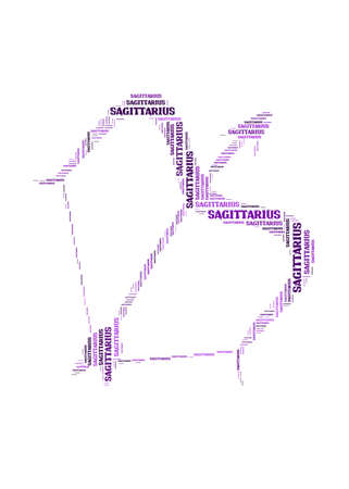 Text cloud: symbol of sagittarius photo
