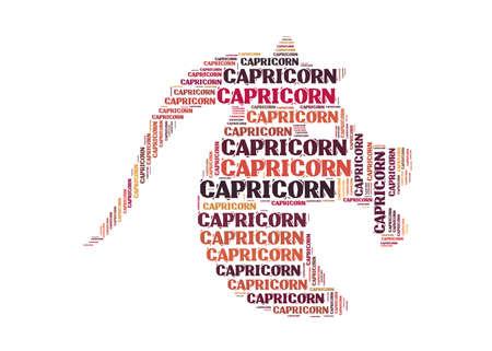 textcloud: Text cloud: symbol of capricorn