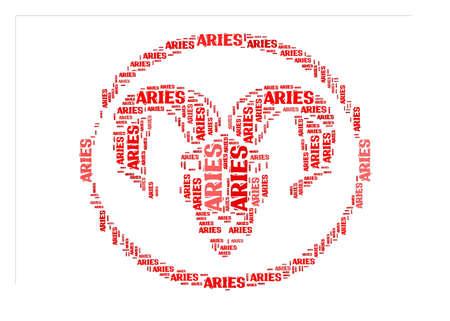 textcloud: Text cloud: symbol of aries