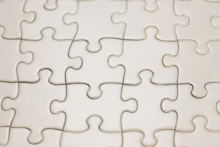 lite gold jigsaw puzzle complete Stock Photo