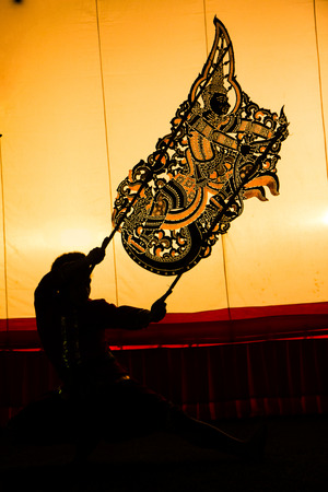 Grand shadow play is one of art kinds in Thailand