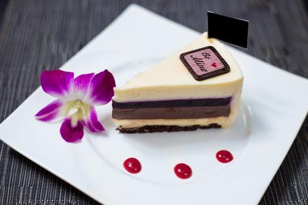 Cheese cake and Chocolate cake photo