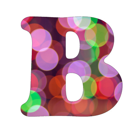 Capital Letter B of Bokeh Alphabet photo