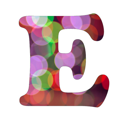 Capital Letter E of Bokeh Alphabet photo