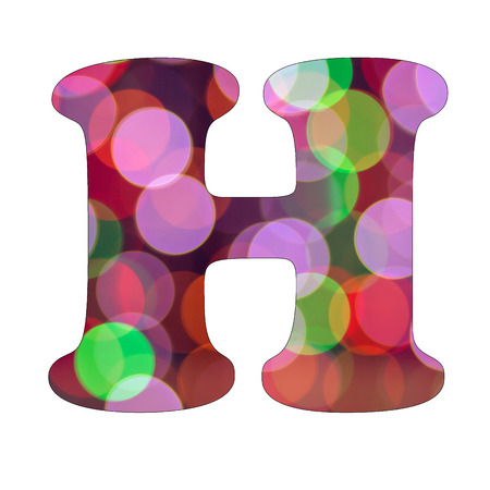 Capital Letter H of Bokeh Alphabet photo