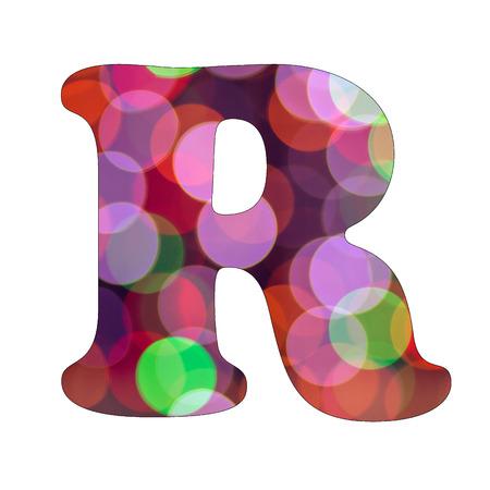 Capital Letter R of Bokeh Alphabet photo