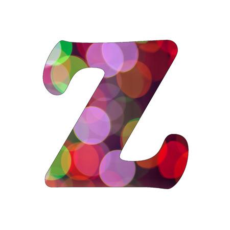 Capital Letter  Z  of Bokeh Alphabet photo