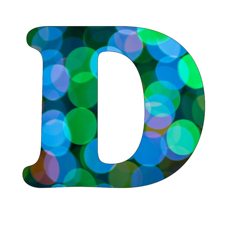 Capital Letter  D  of Bokeh Alphabet photo
