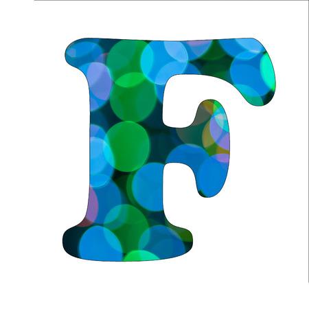 Capital Letter  F  of Bokeh Alphabet photo