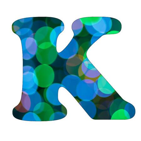 Capital Letter  K  of Bokeh Alphabet photo
