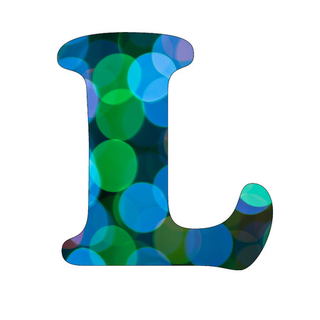 Capital Letter  L  of Bokeh Alphabet photo