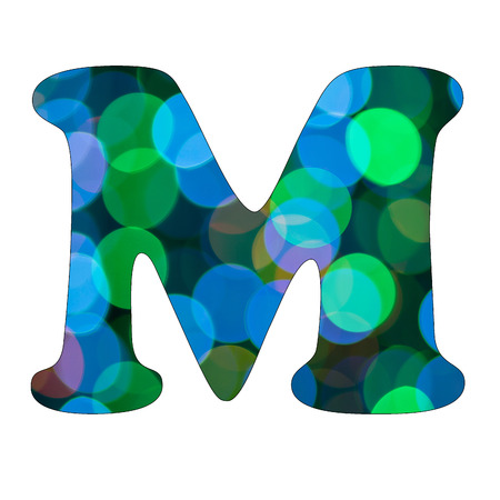 Capital Letter  M  of Bokeh Alphabet photo