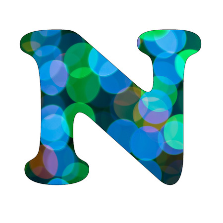 Capital Letter  N  of Bokeh Alphabet photo