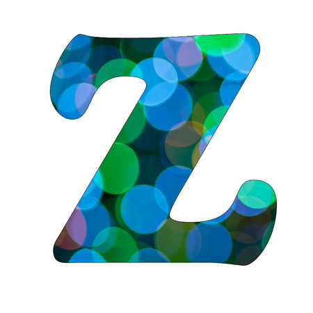 Capital Letter  Z  of Bokeh Alphabet photo
