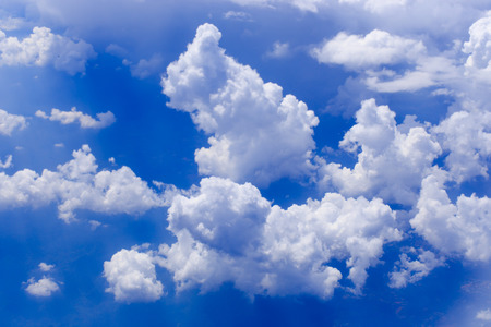 cloud in the blue sky abstract background