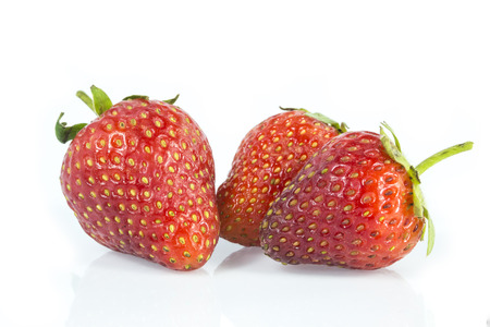 endorphine: Group of Stawberries isolated on white background