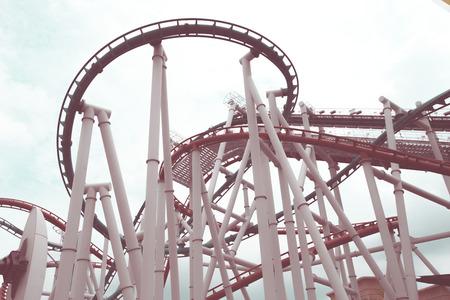 a loop: a roller coasters loop with vintage style