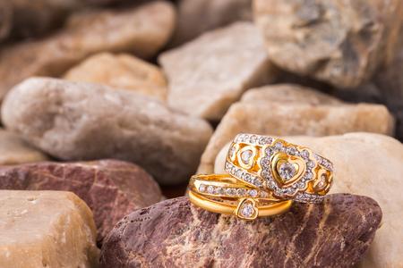 diamond shape: Heart shape diamond ring on blown old stones