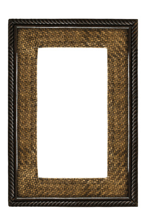 wooden frame: wooden frame isolated on white background