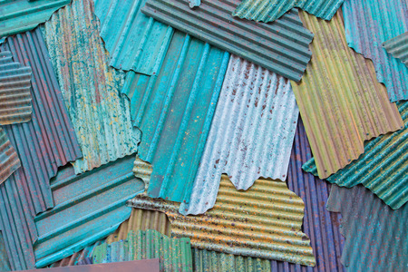 corrugated steel: The Colorful metal. Colorful of Rusted galvanized iron plate
