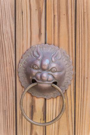 knocker: Unidentified lion head door knocker