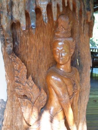 Thai design in Malitime resort, Krabi Stock Photo