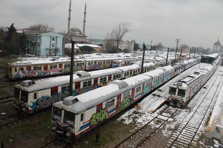 suburban: suburban train
