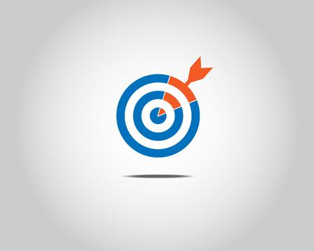 Blue target hit by orange arrow