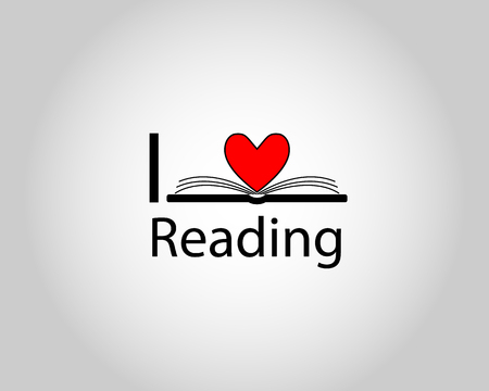 I love reading text with book pages shaping heart