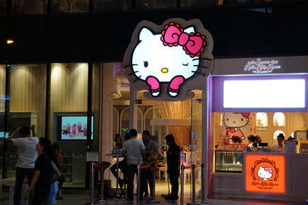 Bangkok, Thailand - October 10, 2014: Hello Kitty House is now opening in the middle of Bangkok Redactioneel