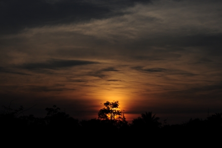 lurid: Sun Set Stock Photo