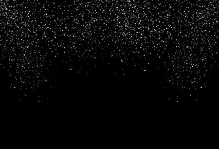 Stars fade textured, starry falling down scatter glitter silver white metal gradient shiny space and galaxy concept abstract background
