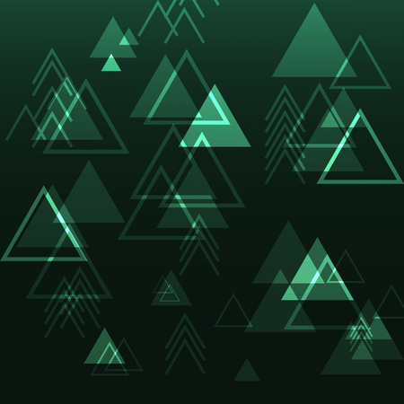 Triangle digital technology futuristic speed play button geometric concept abstract background Çizim