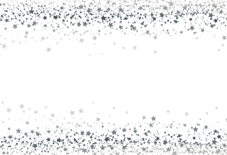 Stars scatter glitter confetti silver shine galaxy celebration party concept abstract background texture vector illustration