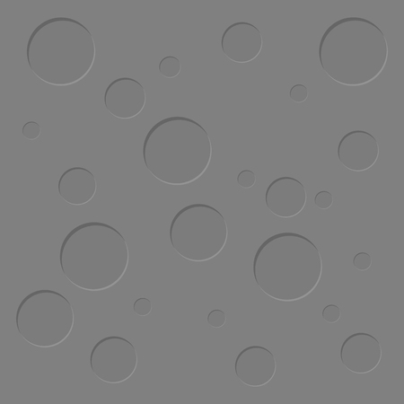 Moon, grey surface textured circles scatter abstract background flat design geometry