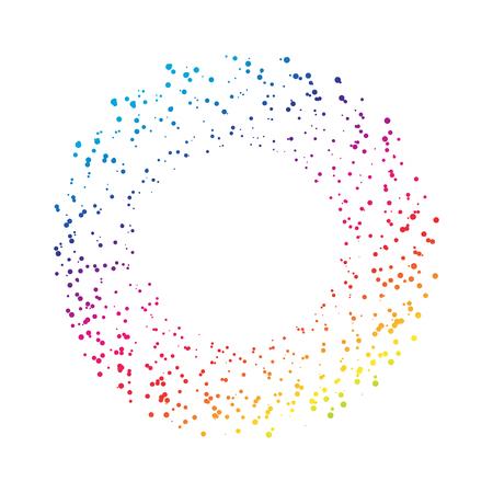 Stars dot splashing rainbow abstract background vector illustration