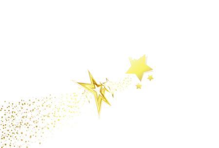 Golden stars scatter glitter sparkle confetti magic celebration on white abstract background vector illustration