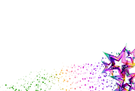 Rainbow stars scatter glitter sparking and blinking confetti celebration party on white abstract background vector illustration 向量圖像