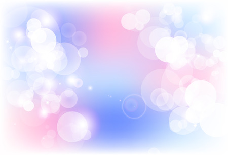 Blurry bubble magic blink sparkle stars scatter shiny purple and pink abstract background vector illustration