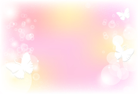 Butterfly between blurry bubble blinking with stars sparkly glitter shine concept abstract background vector illustration 向量圖像