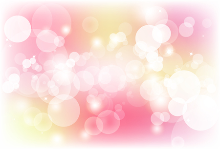 Blurry bubble magic red and orange abstract background vector illustration