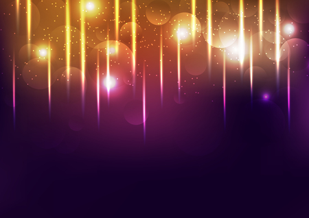 Celebration gold light, shiny festival, explosion glowing confetti fall, dust and grainy abstract background vector illustration Ilustrace