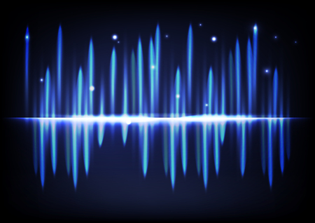 Light bright glowing effect abstract background music volume equalizer futuristic blue technology vector illustration
