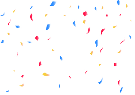 Confetti fall using for decoration, greeting card celebration festival, congratulations event paper scatter drop design abstract background vector illustration