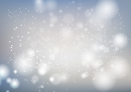 White, celebration abstract background, silver stars sparkle blur motion luxury vector illustration, seasonal holiday
