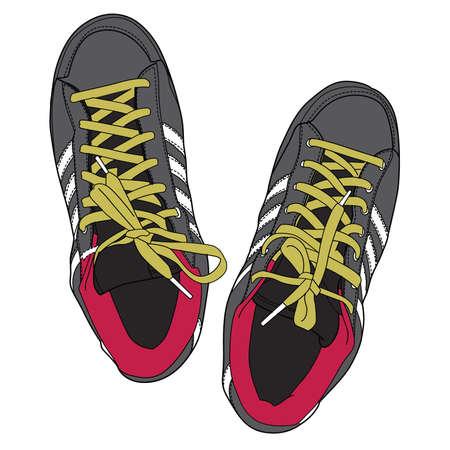 running shoe: Scarpe old school Vettoriali