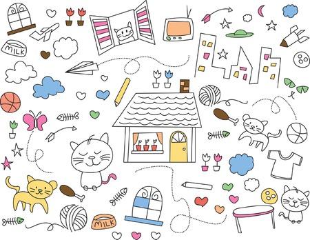 kids illustration Vector
