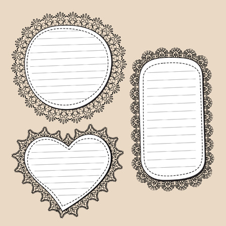 fabric label: frame with lace edge Illustration