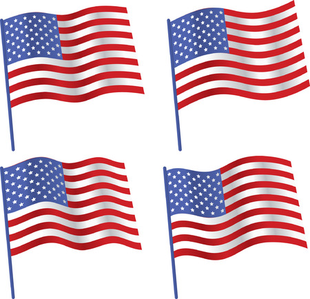 us state flag: 4 type american flag