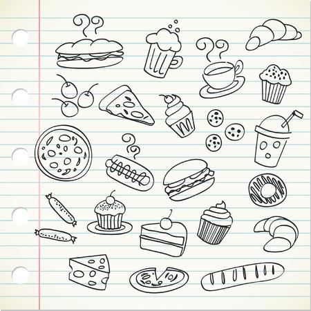 food doodle Stock Vector - 7816021
